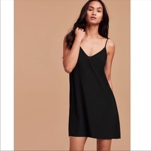 Aritzia Black Slip Dress